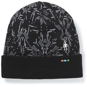 Smartwool Merino 250 Pattern Bonnet Avec Revers, black/digital snowflake